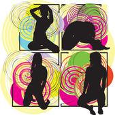 Sexig tjej, vektor illustration. — Stockvektor