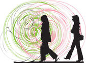 Businesswoman illustration — Stock Vector