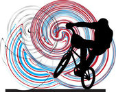 Abstract sketch of biker. Vector Illustration — Stockvector