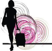 Businesswoman. Vector illustration — Stockvector