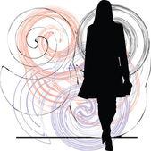 Illustration de la femme d'affaires — Vecteur