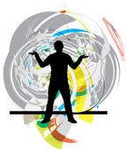 Tieners. vectorillustratie — Stockvector