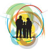 Happy family Illustration — Stock Vector