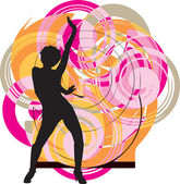 Dancing girl illustration — Vector de stock