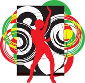 Dansande flicka illustration — Stockvektor