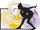 Yoga illustratie — Stockvector