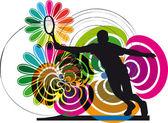 テニス プレーヤー。ベクトル イラスト — ストックベクタ