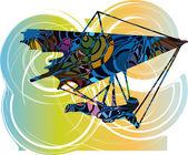 Hang Glider. Vector Illustration — Stock Vector