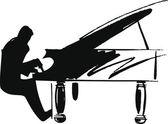 Ilustração de músicos tocam música clássica. ilustração vetorial — Vetor de Stock
