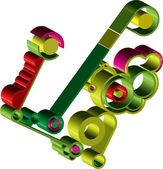 Abstract gear wheels vector illustration — Stock Vector
