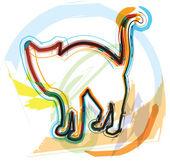 Kat, vectorillustratie — Stockvector
