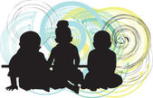 3 babies, vector illustration — Stock Vector