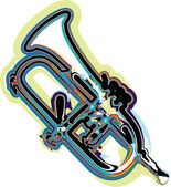 Music instrument vector illustration — Cтоковый вектор