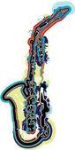 Ilustración de vector de instrumento musical — Vector de stock