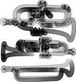 Music instrument vector illustration — Stock Vector