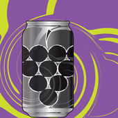 Aluminum packaging for beverages with cool design. Editable vector illustration — Stockvector