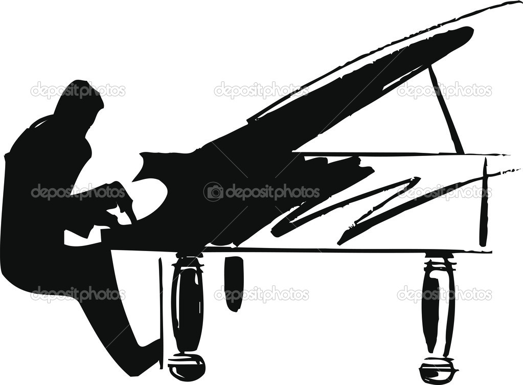 Illustration of musicians play classical music. vector illustration made in adobe illustrator — Stock Vector #9386983
