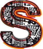 Incas font, vector illustration — Stock Vector