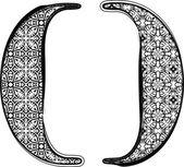 мода шрифта — Cтоковый вектор