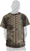 Ancient t-shirt. Vector Illustration — Stock Vector