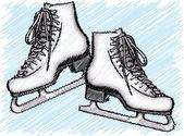 Ice skate. vectorillustratie — Stockvector