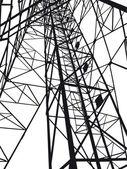 Иллюстрация абстрактной Электрическая башня — Cтоковый вектор