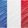 France flag, vector illustration — Stockvektor