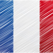France flag, vector illustration — Imagen vectorial