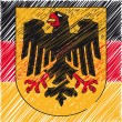 German coat of arms, vector illustration - Stock Vector