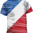 France tee, vector illustration — 图库矢量图片