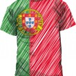 Portugal tee, vector illustration — Stockvector #9536902