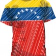 Venezuela tee, vector illustration — Stock Vector
