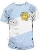Argentina tee, vector illustration — Stock Vector