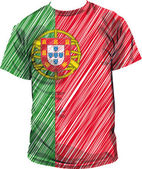 Portugal tee, vector illustration — Stockvector