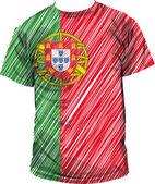 Portugal tee, vectorillustratie — Stockvector
