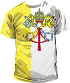Vatican tee, vector illustration — Stok Vektör