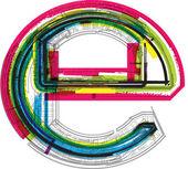 Technische typografie — Stockvector