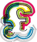 Technical typography — Stock Vector