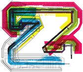 Tekniska typografi — Stockvektor