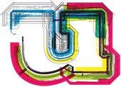 Techniczne typografia — Wektor stockowy
