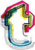 Tipografía técnica — Vector de stock