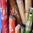 Ancient colorful wooden flute — Stockfoto