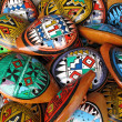 Ocarina. Aboriginal musical instrument made of clay — Stockfoto #9601477