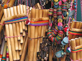 Close-up of the Quena (musical instrument from Peru)