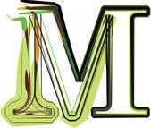 Organické písmo ilustrace. vektorové ilustrace — Stock vektor