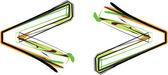 Organische lettertype illustratie. vectorillustratie — Stockvector