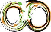 Ilustração de fonte orgânica. ilustração vetorial — Vetorial Stock
