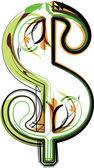 Organic Font illustration. Vector illustration — Stock Vector