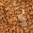 Foto de Stock  : Red stone and sand