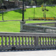 Stone Balustrade with pillar - Stock Photo